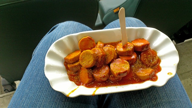 Currywurst sausage snack