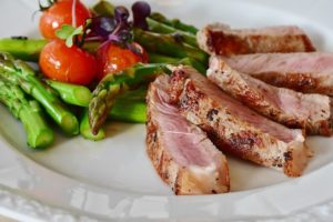 meat and asparagus salad